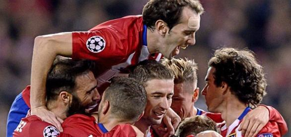 El Atlético celebra un gol ante el Galatasaray