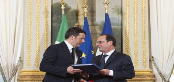 Matteo Renzi ha incontrato Hollande