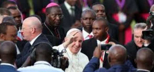 Papa Francisco na África (Foto: Reprodução)