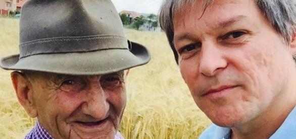 Dacian Cioloş şi bunicul său foto facebook.com