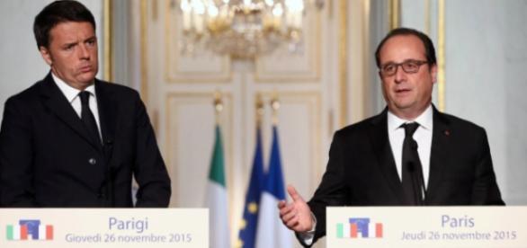 Renzi in visita a Hollande, ieri 26 novembre