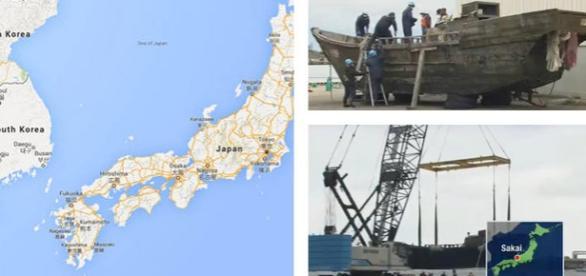 Bărci de pescuit cu cadavre descoperite în Japonia