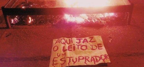 Protesto dos estudantes UFRJ depois do crime