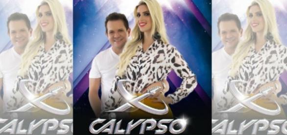 Ximbinha e Thábata Mendes - logo da Banda XCalypso
