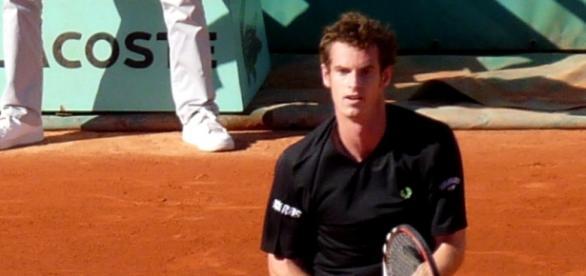 Andy Murray durante un encuentro en tierra batida