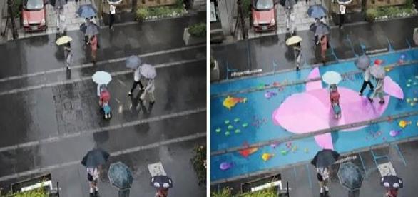 Arte con el agua en las calles de Seúl 1