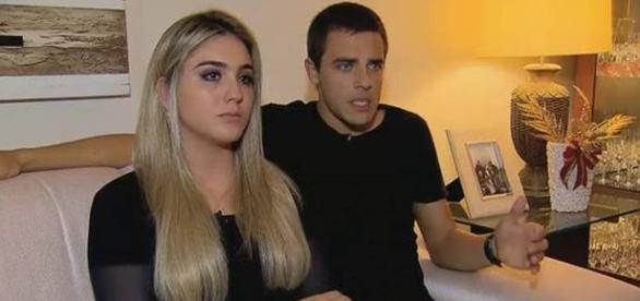 ator e a namorada foram vitimas de sequestro.