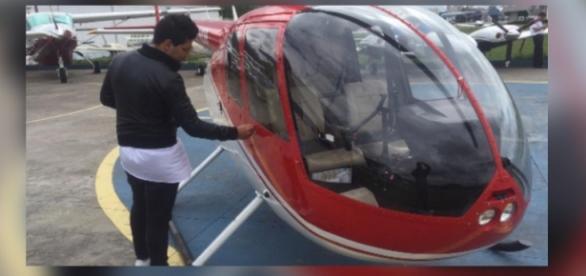 Thiago Servo quase invade A Fazenda em helicóptero