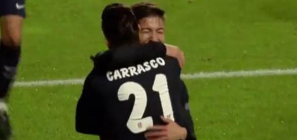 Carrasco y Vietto celebrando el segundo gol