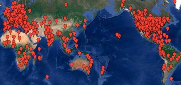 La mappa delle città dove è prevista una marcia.