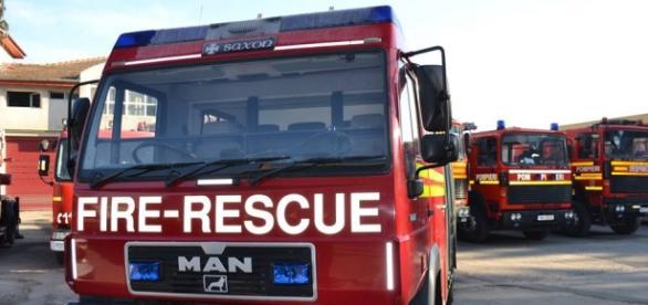 Autospeciala donată de pompierii englezi