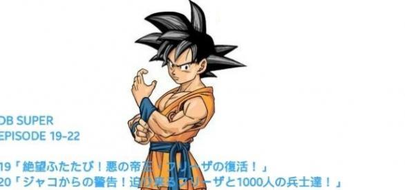 El nuevo diseño de Goku con los titulos