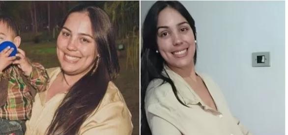 Fotos do antes e depois de Aline