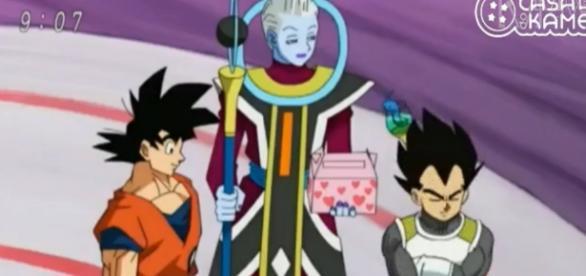 Goku recien llegado al planeta de Bills