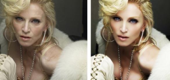 Madona ficou uns 20 anos mais jovens com photoshop