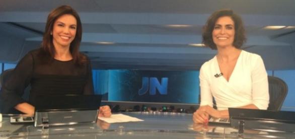 Duas mulheres apresentam o JN sem motivo especial