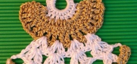 Angelitos a crochet para el árbol de Navidad