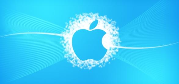 Blue Apple Wallpaper by chalkwebdesign
