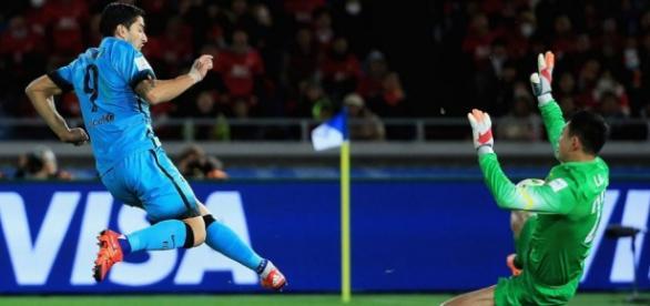 Luis Suarez: 3 gols no jogo (Foto: FCBarcelona)