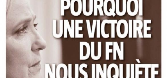 Portada de 'La Voix du Nord' contra el FN.