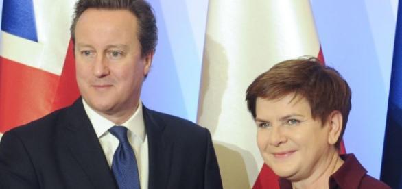 David Cameron i Beata Szydło w Warszawie