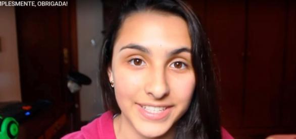 Imagem do vídeo de agradecimento da youtuber