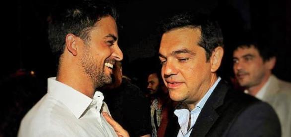 Marco Furfaro con Alexis Tsipras