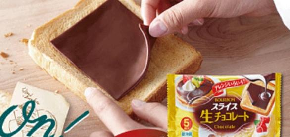Novidade do Japão, chocolate em fatia