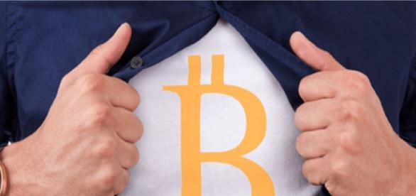 Símbolo da moeda virtual bitcoin