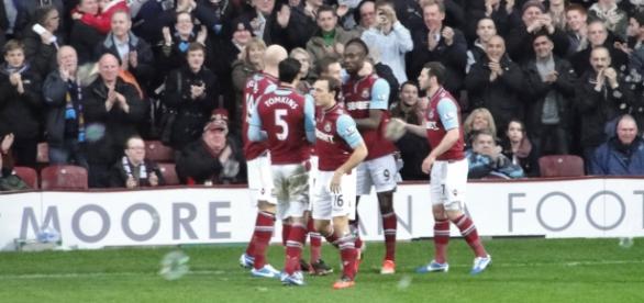 El West Ham celebrando uno de sus goles