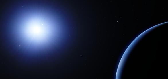 Hipotético Planeta X, en el simulador SpaceEngine
