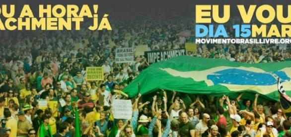 Grupo organiza ato pró-impeachment de Dilma