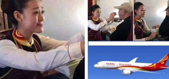 Moment emoţionat într-un avion de linie chinezesc