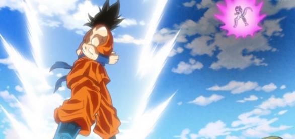 Goku a punto de pelear contra Freezer