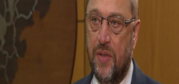 Przewodniczący PE, Martin Schulz (YT screen)