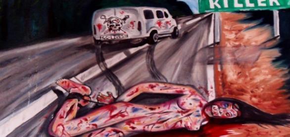 Una pittura realistica sull'omicidio stradale