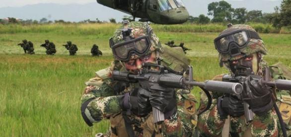 Ejército de Colombia durante una actuación
