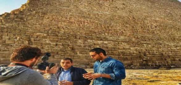 Sérgio Marone curte férias no Egito