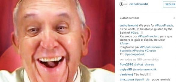 Primeiro selfie do Papa #SQN - Divulgação