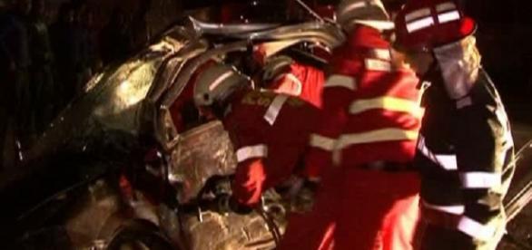 Grav accident luni noapte în Mehedinți