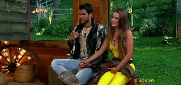 Marcelo e Rayanne (Reprodução/Record)