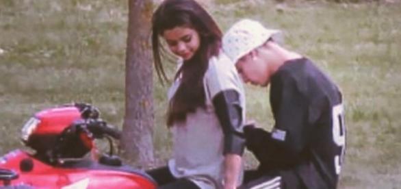 Selena Gomez und Justin Bieber.