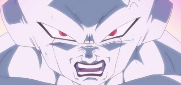 Freezer durante la pelea con Goku