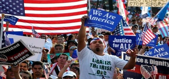 Protesta contra deportaciones en Estados Unidos