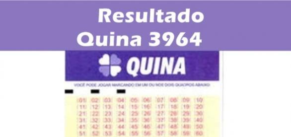 Resultado do jogo da Quina 3964