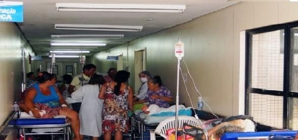 O descaso da saúde pública no Distrito Federal.