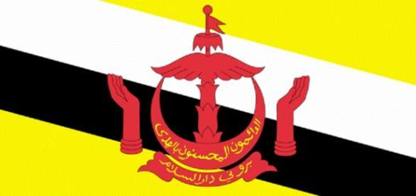 Bandera de el Estado de Brunei