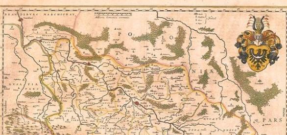 Fragment Mapy Śląska z XVI wieku, Martin Helwig.