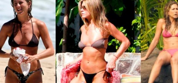 Jennifer Aniston exibe boa forma