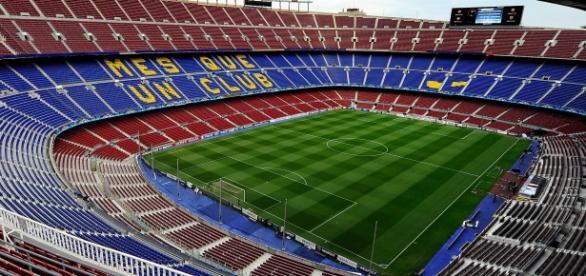 Vista panorámica del estadio del Barça
